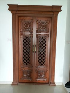 Wooden Main Door Design, Double Door Design, Door Gate Design, Centre Table Living Room, Mandir Design, Pooja Room Door Design, Window Grill Design, Puja Room, Room Doors