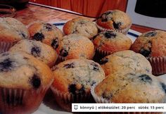 Áfonyás muffin horlillus konyhájából