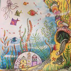 """Sunday pleasure. Just relaxing. #coloring #lostocean #lostoceancoloringbook…"