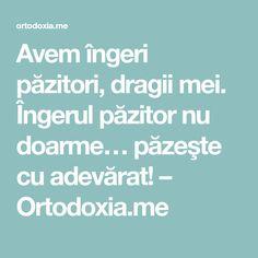 Avem îngeri păzitori, dragii mei. Îngerul păzitor nu doarme… păzeşte cu adevărat! – Ortodoxia.me