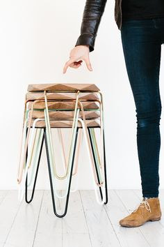 Stools handmade by local design studio Tuckbox