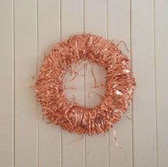 Copper wreath, great for adding colour to your home or for complementing a minimalist look. #copper #wreath #home #gift #decor #minimal #handmade #uk