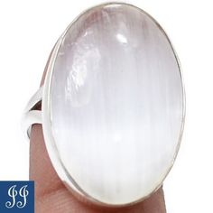 s7-5-79149-SELENITE-GEMSTONE-925-STERLING-SILVER-RING-SIZE-7-5-JEWELRY