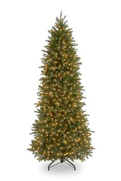 National Tree Company 712Feet Jersey Fraser Pencil Slim Fir Tree with 650 Clear Lights >>> Want additional info? Click on the image.