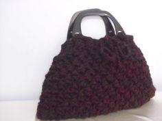 Crocheted Handbag afghan beaded  bag spring fashion by CrochetChi
