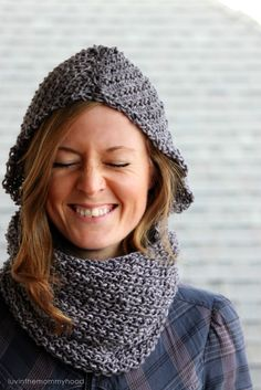 Camille Hooded Cowl Pattern by luvinthemommyhood.