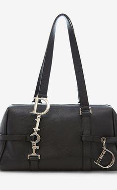 Dior Black Handbag: looks like a horse bit
