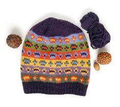 Fair Isle Hat Pattern, PDF Knitting Pattern for Adult and Kid Winter Ski Cap, Aran Yarn Beanie Pattern Knitting Machine Patterns, Aran Weight Yarn, Slouchy Hat, Beanie Pattern, Fair Isle Knitting, Knitted Hats, Pdf, Purple, Etsy