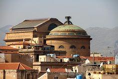Opera House.  Lion Massimo Teatro Palermo Sicily
