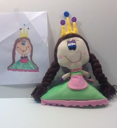 Custom toy from drawing by BlueButterbean on Etsy, $40.00