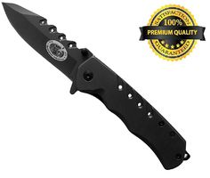 Sportsman Folding Knife with 5 Year Guarantee! This Premium Titanium Spring Assisted Opening Pocket Knife is Best for Camping - Survival Gear - Fishing - Backpacking or Hunting. A High Quality Tool for any Outdoor Enthusiast. Makes a Perfect Gift! >>> Click image to review more details.