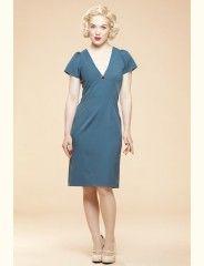 Cup Dress Lace Vintage Blue