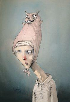 Portrait Art, Portraits, Illustrator, Spirited Art, Funky Art, Hippie Art, Weird Art, People Art, Whimsical Art