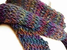 Fall Scarf Beautiful Multicolor Stripes Earthy by jamiesierraknits, $25.00
