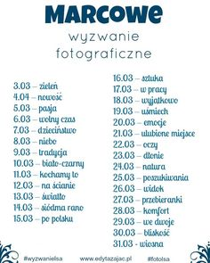 Marcowe wyzwanie fotograficzne | Jaki będzie Twój motyw przewodni? Disney Scrapbook, Free Prints, Bullet Journal Inspiration, Photo Tips, Project Life, Challenges, Blog, Photography, Instagram