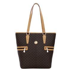 ffbab20680f0a1 Rioni Signature Tall Tote Shopper Hangbag Purse - Signature Brown, Women's  Leather Material, Shopper