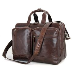 Leather Expandable Business Briefcase