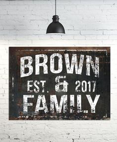 Looking for a rustic established sign? Our family name canvas sign will be sure to add that fixer upper rustic detail to your home. We know you look high and low for the perfect sign for your farmhouse, but when you find it it doesn't fit your space. With our designs you can add that rustic detail and it will fit your