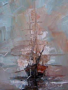 flowers by Justyna Kopania www. Painting Inspiration, Art Inspo, Abstract Expressionism, Abstract Art, Sailboat Painting, Art And Illustration, Oeuvre D'art, Painting & Drawing, My Arts