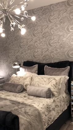 Prosecco Sparkle Marble Wallpaper White Silver- Best Picture For pink marble wa… – Marble Decoration Marble Bedroom, Silver Bedroom, Home Decor Bedroom, Living Room Decor, Luxurious Bedrooms, Beautiful Bedrooms, Home Decor Inspiration, Decoration, Interior Design