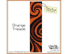 Peyote Bracelet Pattern: Orange Treacle by VikisBeadingPatterns