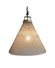 Glass & Metal Mesh Pendant Light – Allissias Attic & Vintage French Style