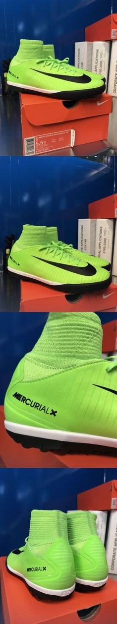 Youth 159177: Nike Jr Mercurialx Proximo Ii Df Tf 5.5Y Soccer Cleats Green  Black