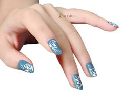 Water Decal White flower Nail Decal Nail Decals, Nail Stickers, Print On Paper Bags, Water Nails, Flower Nails, White Flowers, My Nails, Nail Art, Collection