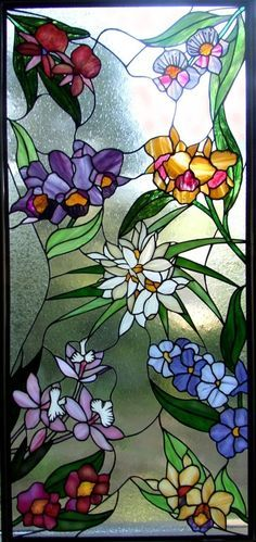 stained glass with flowers ❤