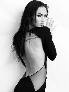 Megan Fox for Elle Magazine Megan Fox Body, Megan Fox Style, Megan Denise Fox, Megan Fox Photoshoot, Megan Fox Pictures, Elle Magazine, Black And White Portraits, Celebs, Celebrities