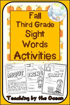 Fry Sight Words, Sight Words List, Dolch Sight Words, Sight Word Practice, Sight Word Worksheets, Sight Word Activities, School Resources, Teacher Resources, Third Grade Writing