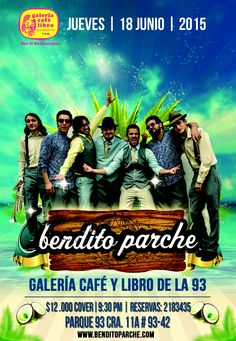 Prox. Guateque del Bendito Parche! Juev. 18 Junio 9:30pm Galeria Cafe Libro​ https://www.facebook.com/events/1021373764554360/