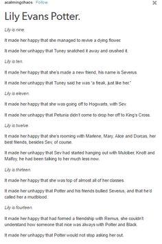 Lily Evans Potter - The Marauders part 1