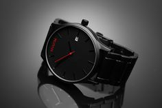 MVMT Watches! Black Face Watch with Black Strap. Not sure which one of their watches is my favorite.
