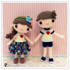 ♡ Amigurumi girl and boy crochet dolls. (Inspiration). ♡
