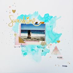 "Bonico de corazón: Layout ""Sunshine"""