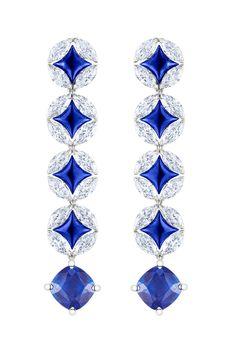 Louis Vuitton Voyage dans le temps Galaxie Monogram earrings.