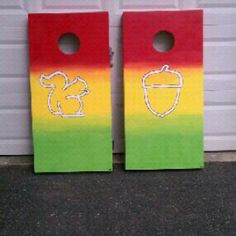 Alpha Gam Corn Hole!!!! So cute!