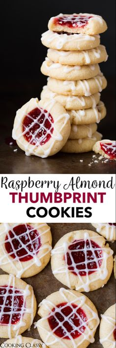 Raspberry Almond Shortbread Thumbprint Cookies - these are one of my FAVORITE Christmas cookies!: Raspberry Almond Shortbread Thumbprint Cookies - these are one of my FAVORITE Christmas cookies! Tea Cakes, Holiday Baking, Christmas Baking, Cookie Desserts, Dessert Recipes, Raspberry Thumbprint Cookies, Cookies Decorados, Cupcakes, Cookie Recipes
