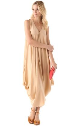 37dcdc44c9 HATCH The Soiree Silk Dress Drape Maxi Dress