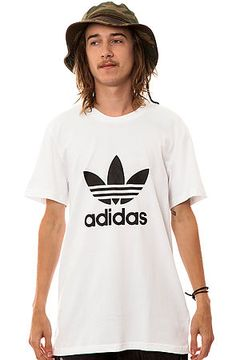 Adidas Skateboarding Tee Adi Trefoil in White & Black