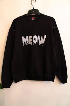 black meow sweatshirt