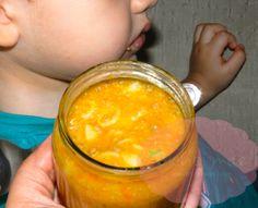Receitas de papinhas caseiras (tipo nestlé) Homemade Baby, Infant Activities, Baby Food Recipes, Kids Meals, Fruit, Ethnic Recipes, Play Doh, Twins, Alice