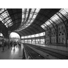 Barcelona Train Station, a photo from Barcelona, Catalonia   TrekEarth ❤ liked on Polyvore featuring backgrounds, photos and pictures