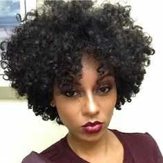 Perfectly cut curly hair