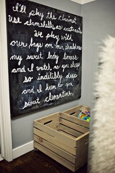 Gorgeous artwork and poetry http://projectnursery.com/projects/clementines-nursery/