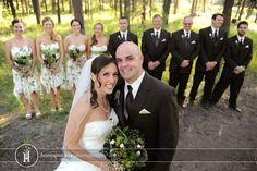 wedding party shot