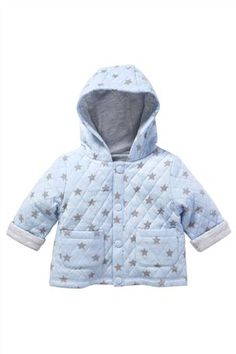 Buy Blue Quilted Jacket (0-18mths) from the Next UK online shop