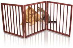 Kleeger Freestanding Folding Indoor Safety Wooden Pet Gate For Home Or Office. No Tools Required, Easy To Set Up * Check out the image by visiting the link. (This is an affiliate link and I receive a commission for the sales) #Doggies