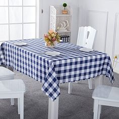 Table Cover Wipe Clean Cotton Tablecloth Plaid Grid Table Cloth for Dining Kitchen Living Coffee Table Cloth, Dining Table Cloth, Checkered Tablecloth, Linen Tablecloth, Tablecloths, Picnic Decorations, Table Sizes, Table Covers, Kitchen Living